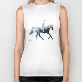 Horse (Canter on the beach) Biker Tank