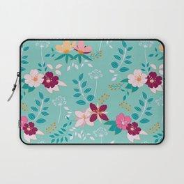 Exotic Flower Pattern Laptop Sleeve