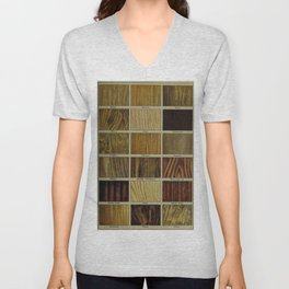 Wood Grain Chart Unisex V-Neck
