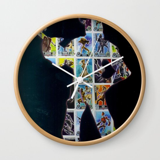 Cut StarWars Collage 10 Wall Clock