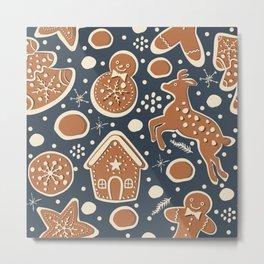 Gingerbread Pattern Metal Print