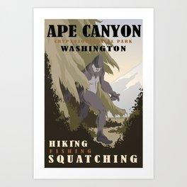 CPS: Ape Canyon, WA Art Print