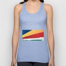 Seychelles Grunge Flag Unisex Tank Top
