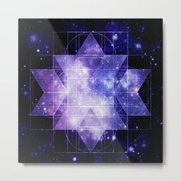 galaxy sacred Geometry Metal Print