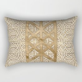 Web of Wyrd The Matrix of Fate - Vintage Gold Rectangular Pillow