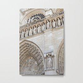 Notre Dame Detail - travel photography Metal Print