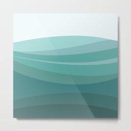 Deep green water, wave pattern, digital illustration Metal Print