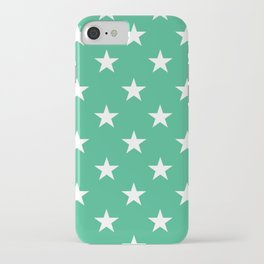 Stars (White/Mint) iPhone Case