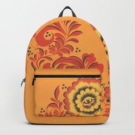 Orange Khokhloma Backpack
