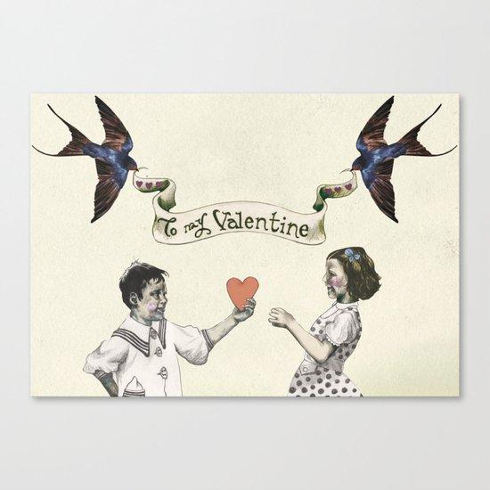 To My Valentine Canvas Print