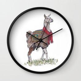 Llama the Yarnbringer Wall Clock