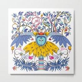 Owl Kingdom in white Metal Print