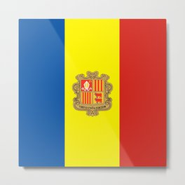 Andorra country flag Metal Print