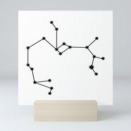 Sagittarius Star Sign Black & White Mini Art Print