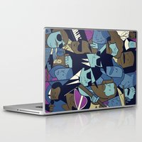 blues brothers Laptop & iPad Skins featuring The Blues Brothers by Ale Giorgini