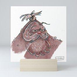 Top Knot Bigfoot Mini Art Print