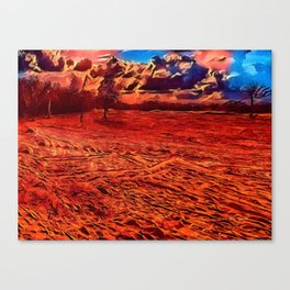 Texas Sand Box - Colored Graphic Canvas Print