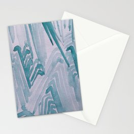 Watercolor Waves Stationery Cards