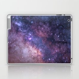 Purple Galaxy Star Travel Laptop & iPad Skin