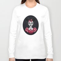 minnie Long Sleeve T-shirts featuring Minnie M. by M. Adeline Nef