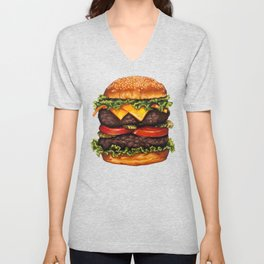 Cheeseburger - Double Unisex V-Neck