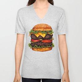 Cheeseburger - Double Unisex V-Neck