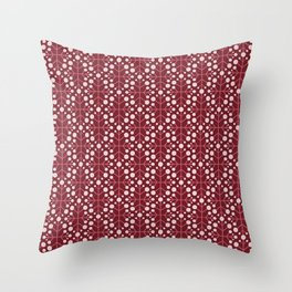 Spring Collection Dot Flower red Throw Pillow