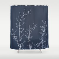 reassurance Shower Curtains featuring Jasmine In the Still of the Night by tanjica