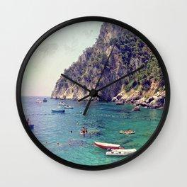 Cliffside Capri Wall Clock