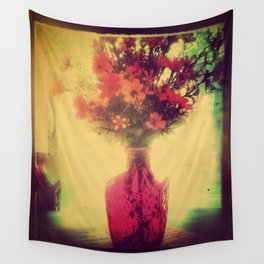 Vintage Flowers of August Wall Tapestry