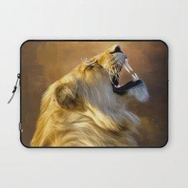 Roaring lion portrait Laptop Sleeve