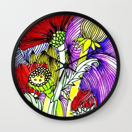 Flowers Two Wall Clock