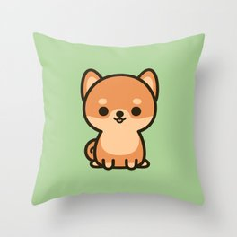 Cute shiba inu Throw Pillow