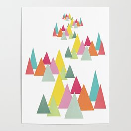 Meandering Forest Poster