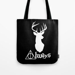 HP Always with Stag (White) Tote Bag