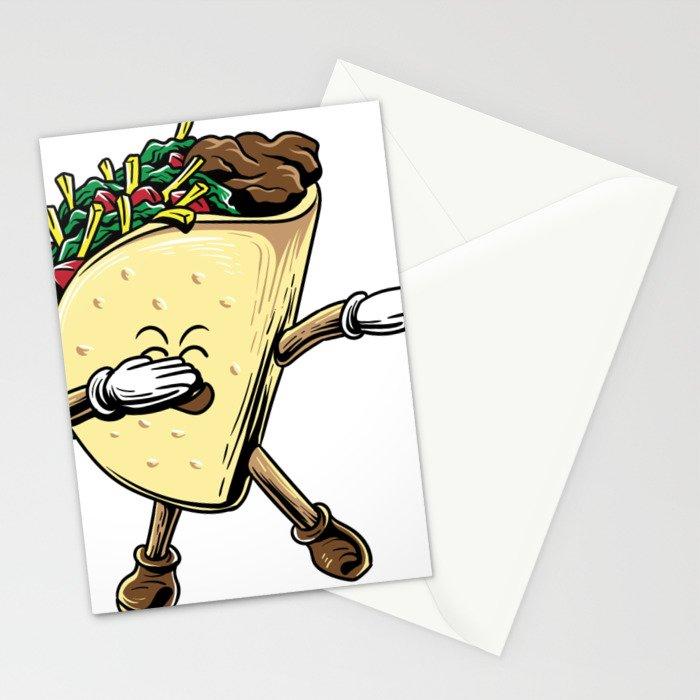 Dabbing Taco Shirt Taco Lover Dab Pose Taco Stationery Cards