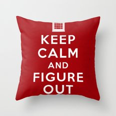 Keep Calm and Figure Out When Throw Pillow