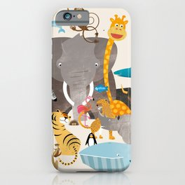 Kids Room Animals – Illustration for the sleeping room of girls and boys iPhone Case