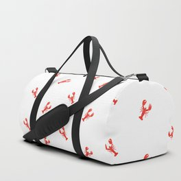 Lobster Pattern #home #decor #summer #orange #animals #sea #beach #pattern Duffle Bag