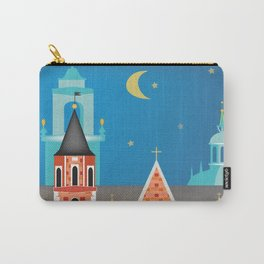 Krakow, Poland - Skyline Illustration by Loose Petals Carry-All Pouch