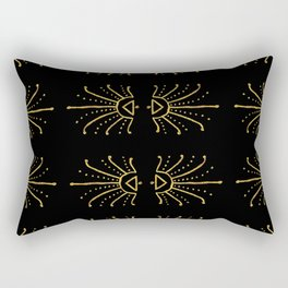 Gold Burst Rectangular Pillow