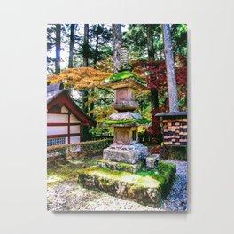 Moss Statues III (Toshogu Temple, Nikko, Japan) Metal Print