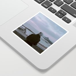 The woman and the sea Sticker