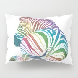 Rainbow Stripes Pillow Sham
