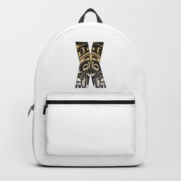 Northwest Pacific Coast American Native Totem Letter X Backpack