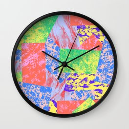 Patches of Freedom Wall Clock