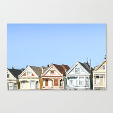 San Francisco's Painted Ladies Canvas Print