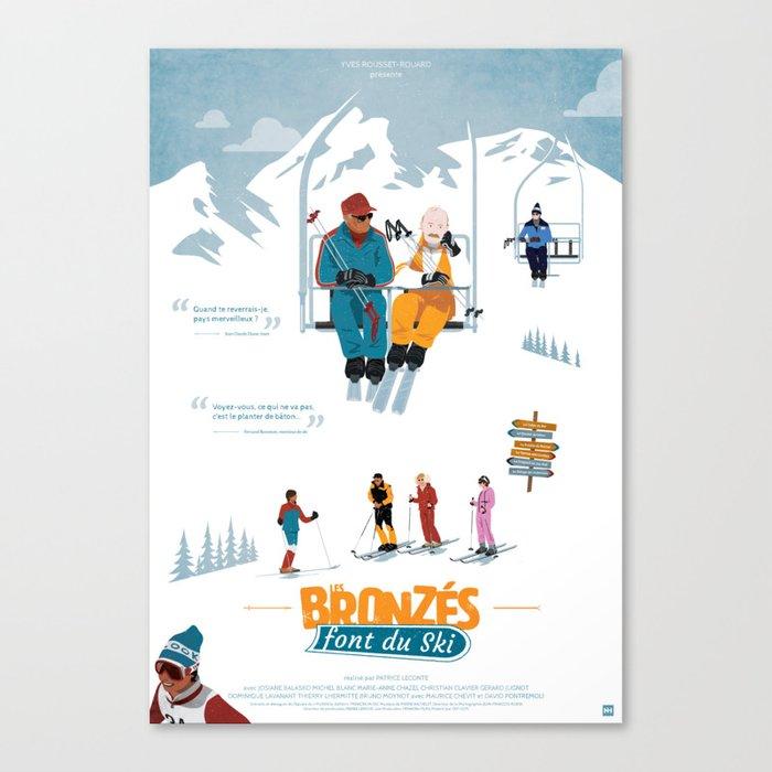 Les Bronzés font du ski - Fanart movie poster Canvas Print
