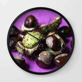 Chestnut - Stillife of Autumn  Wall Clock