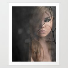 Peeking Through  Art Print